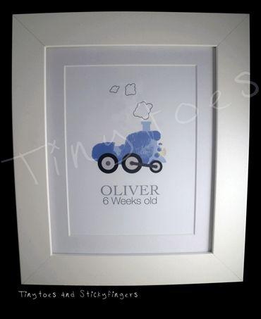 "Train Nursery Print 10x8"""