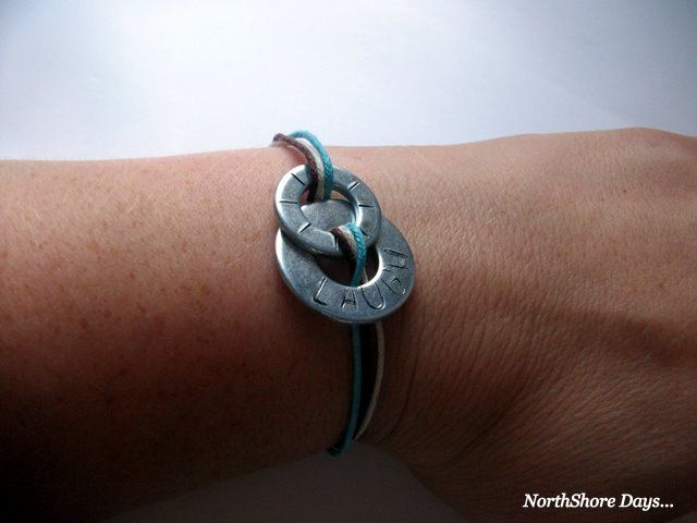 NorthShore Days.....: Stamped Washer Bracelet
