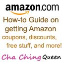 How to guide on getting Amazon coupons, Amazon Discounts, and Amazon Free Stuff from Cha Ching Queen