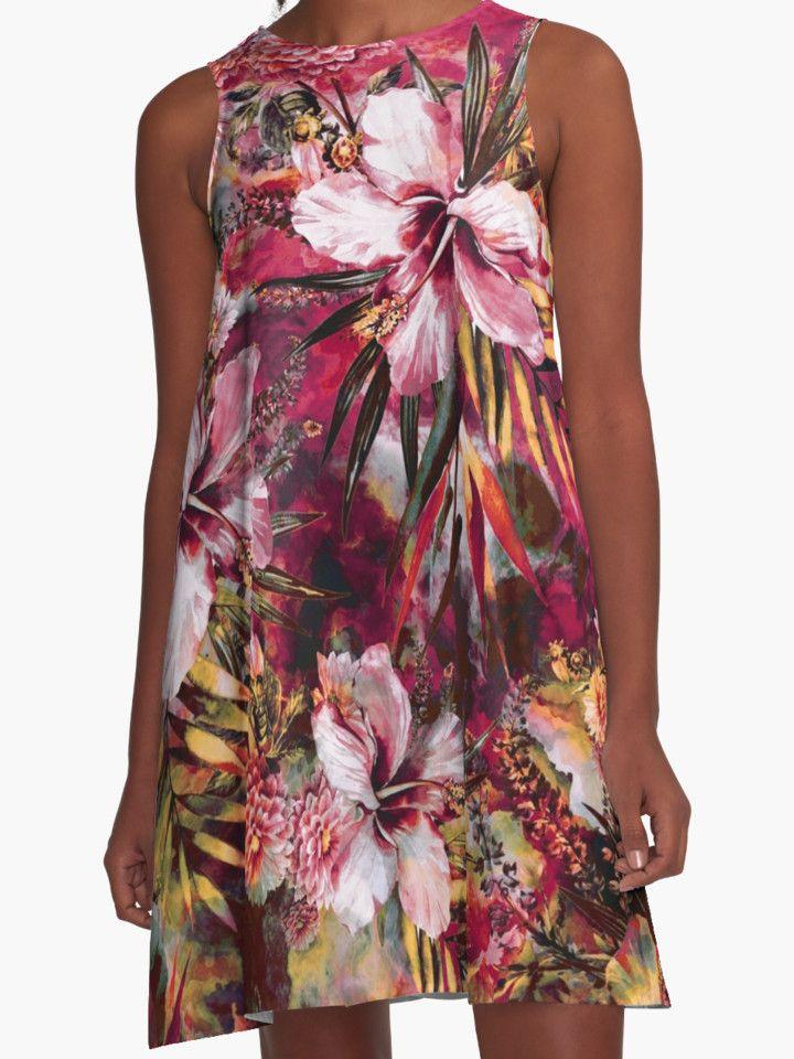 Tropical Heaven III by RIZA PEKER #women #fashion #summer #dress #floral #tropical