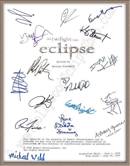 twilight movie script The majority of aspiring screenwriters never complete a script - in that case -  there's nothing to sell  danny redler, more than 20 years experience in the film  and television industry  what is the order in which to watch the twilight movies.
