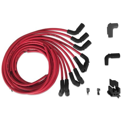 MSD Ignition 32139 Universal Spark Plug Wire Set; Red
