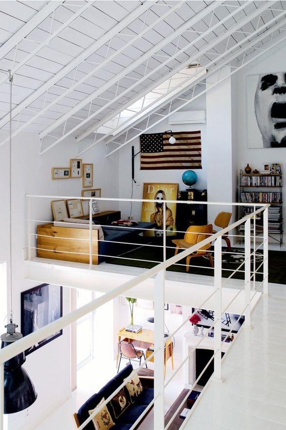 White loft // vintage furniture