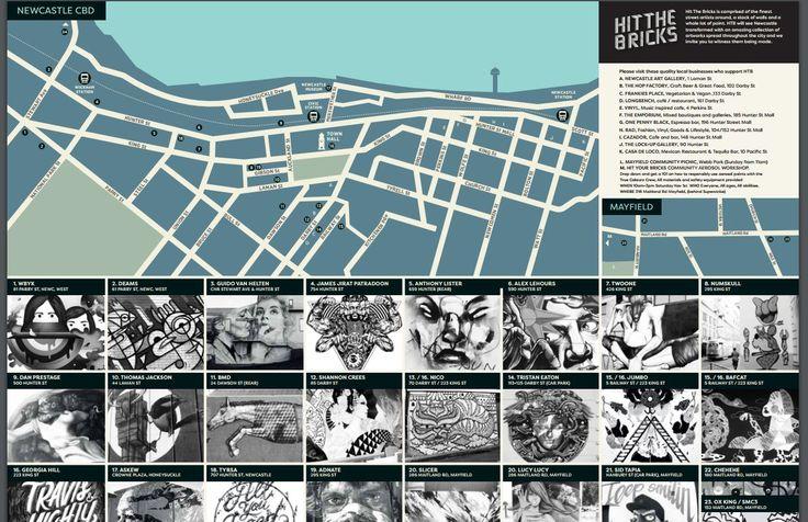 Hit the Bricks - Map Visual Text Reading Paths Composition https://cdn.fairfaxregional.com.au/EDDIENEWS/HITTHEBRICKS_MAP.pdf