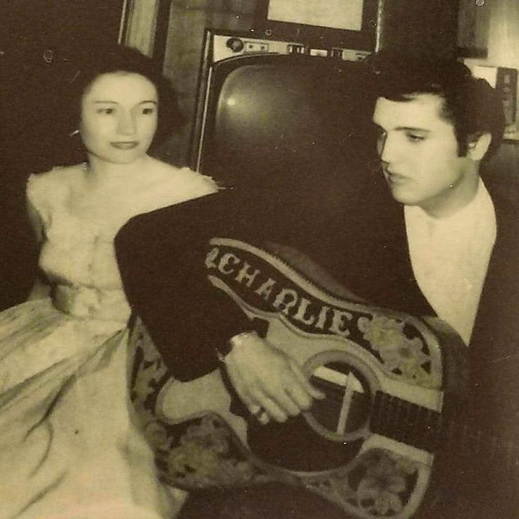 NEW rare photo of Elvis Presley and Sam Phillips wife Rebecca Phillips. The photo was shared by Sam Phillips granddaughter Halley Phillips.