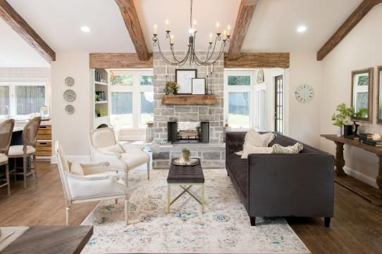 Image Result For Wood Beams On Flat Ceiling Farm House