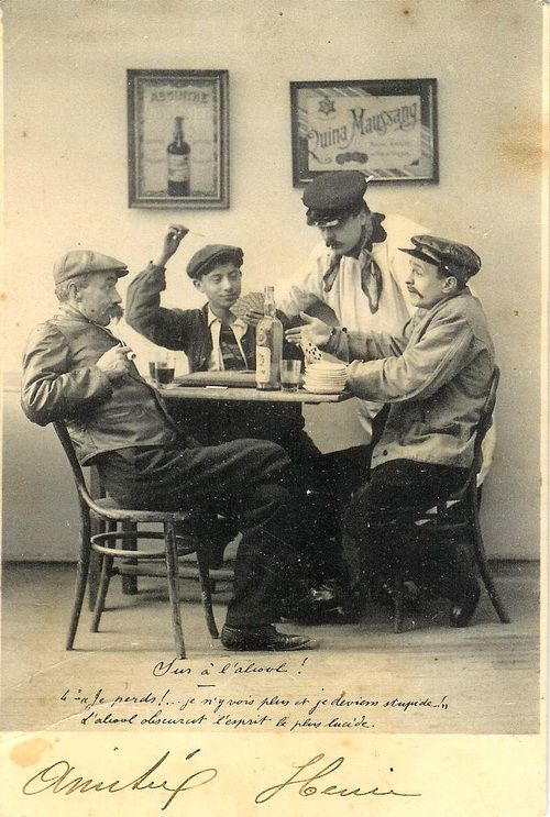Drinking Absinthe more than one hundred years ago.