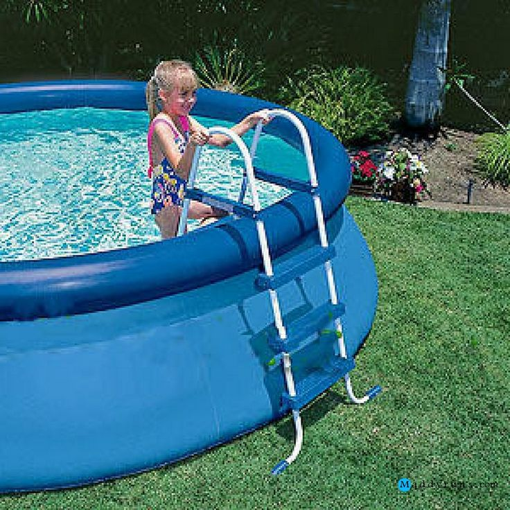 194 best swiming pool images on pinterest above ground for Above ground pool ladder ideas