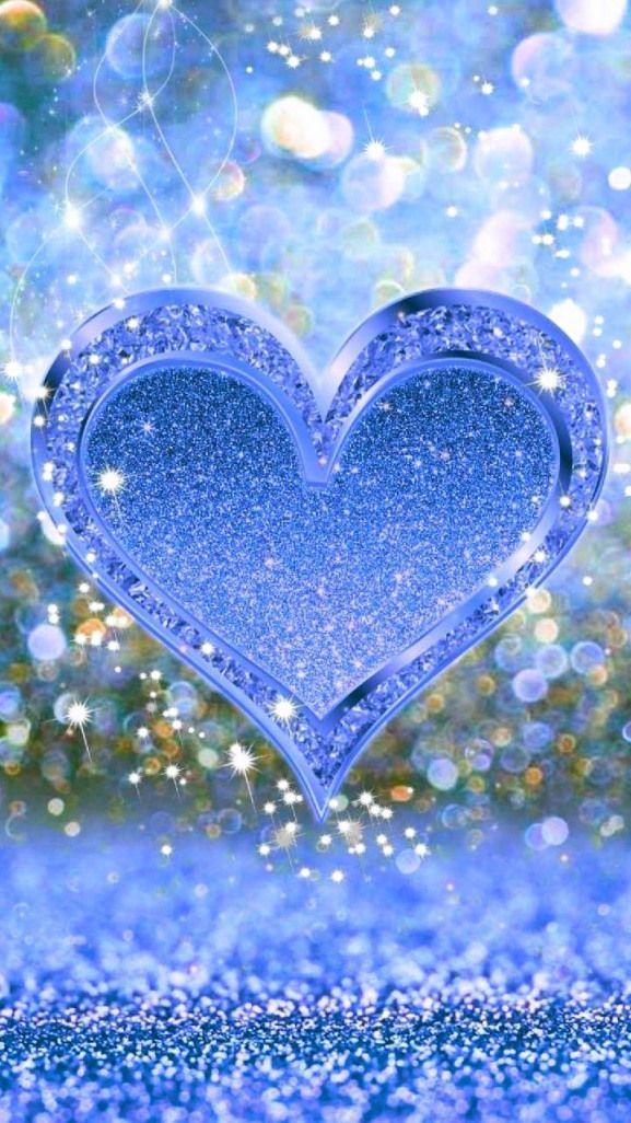 Wallpaper By Artist Unknown Wallpaper Wallpaper Glitter Schone Bilder Liebe Schone Herzen Bilder Blue wallpaper of love