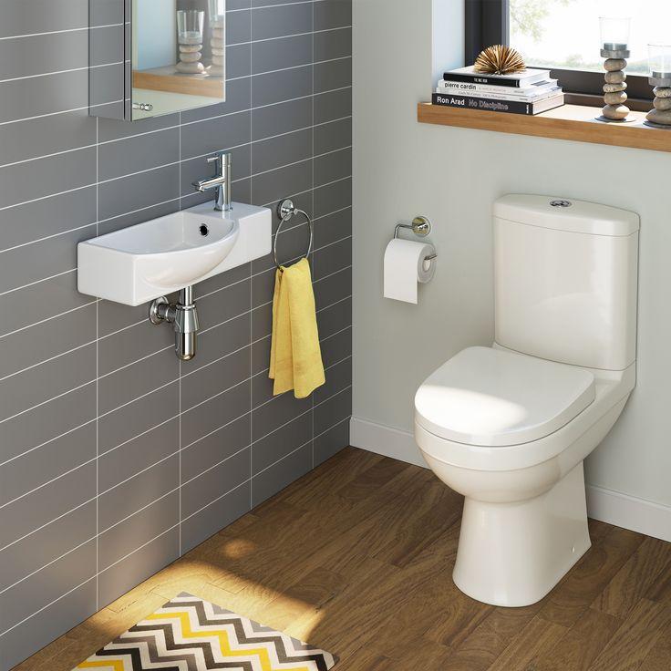 Sabrosa Contemporary Cloakroom Toilet U0026 Isla Cloakroom Wall Hung Basin Set  (medium Part 41