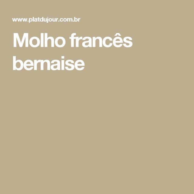 Molho francês bernaise