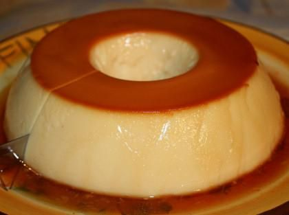 pudim de leite condensado do brasil - A molded, firm pudding dessert (made with sweetened condensed milk) with caramel sauce.