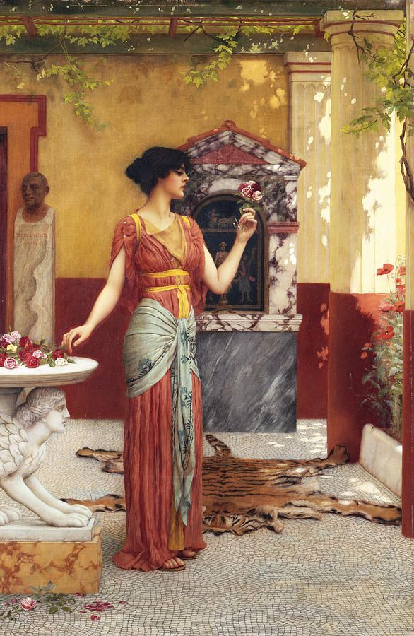 John William Godward, The Bouquet can someone Photoshop david tennatt in the background it just needs him and Donna