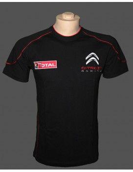 Citroen Black T-Shirt  With embroidered logos http://autofanstore.com