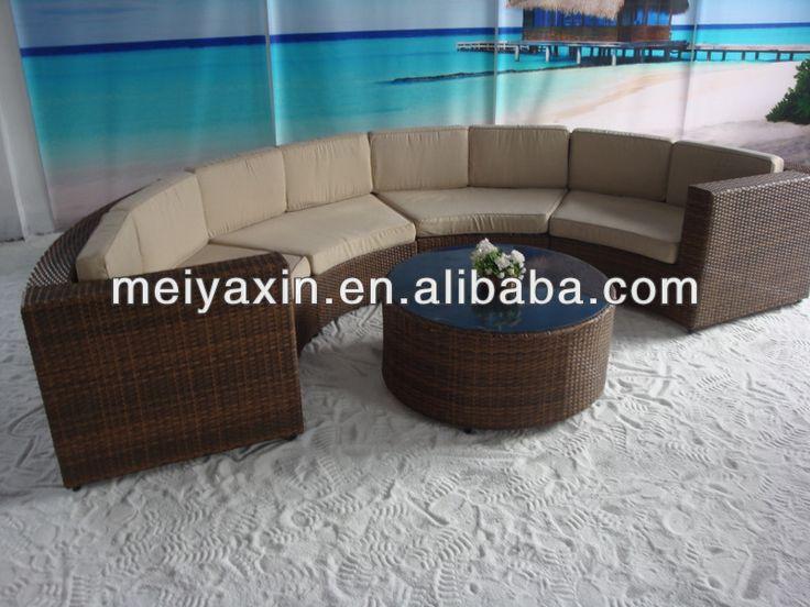 Hot Sale Pe Rattan Furniture Waterproof Cushion Garden Outdoor Sofa