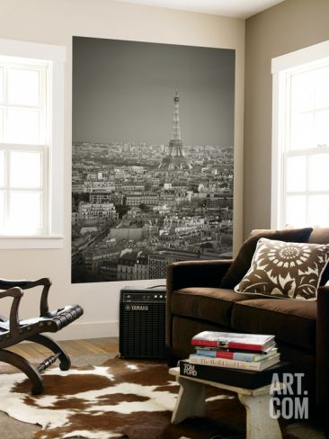 Eiffel Tower and Skyline of Paris, France Wall Mural by Jon Arnold at Art.com