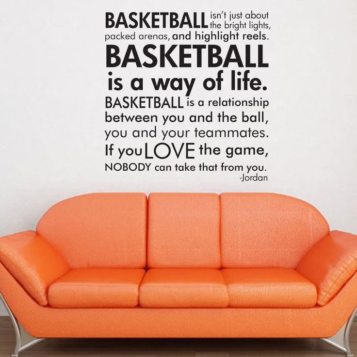 Basketball Michael Jordan quote subway art words vinyl wall decal. $25.00, via…