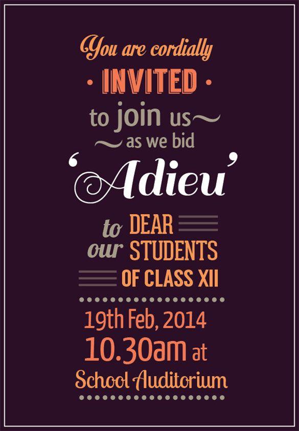 Farewell Party Invitation Template Farewell Party Invitations