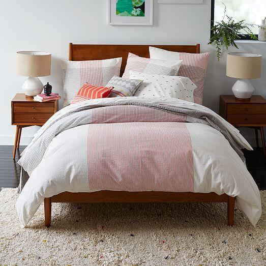 Mid-Century Bed Frame, King, Acorn