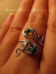 green swirl ring
