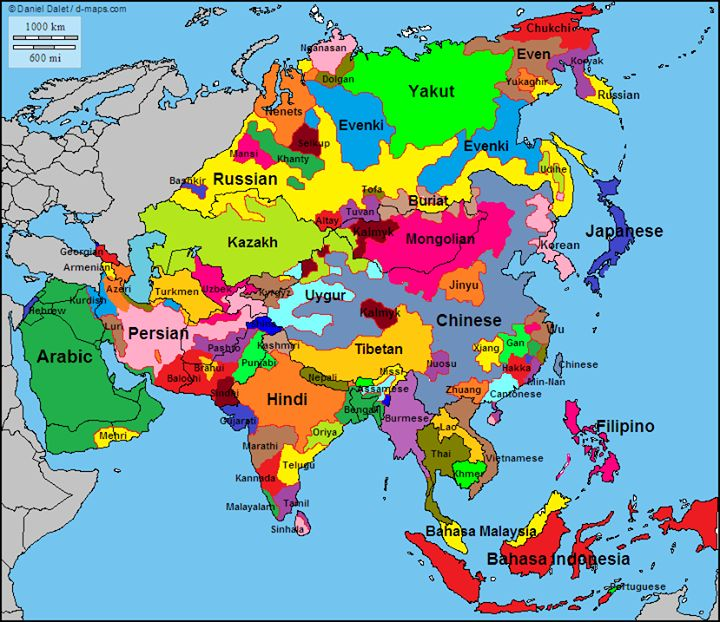 Asian Cultures Map: