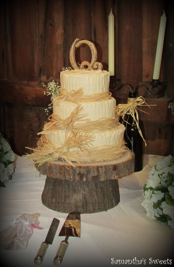 Country wedding cakes pictures - Blue French Country Wedding 058