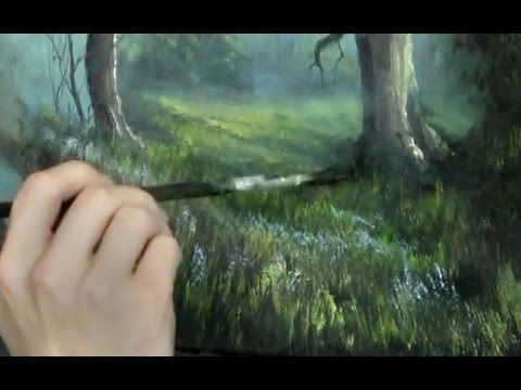 Adding Detail To Hills On An Oil Painting