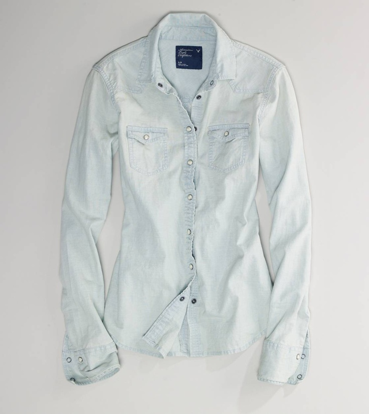 Chambray: Westerns, Faded Western, Western Chambray, American Eagle, Chambray Shirts, Eagles, Ae Faded