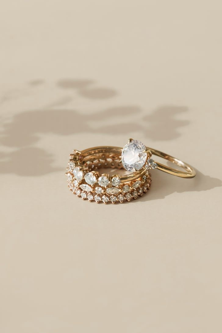 11 Facts To Remember As You Build Your Wedding Ring Stack In 2020 Unique Engagement Rings Rose Gold Vintage Engagement Rings Art Deco Wedding Ring Designs