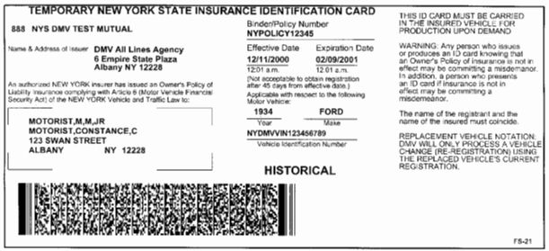 25 Insurance Identification Card Template in 2020