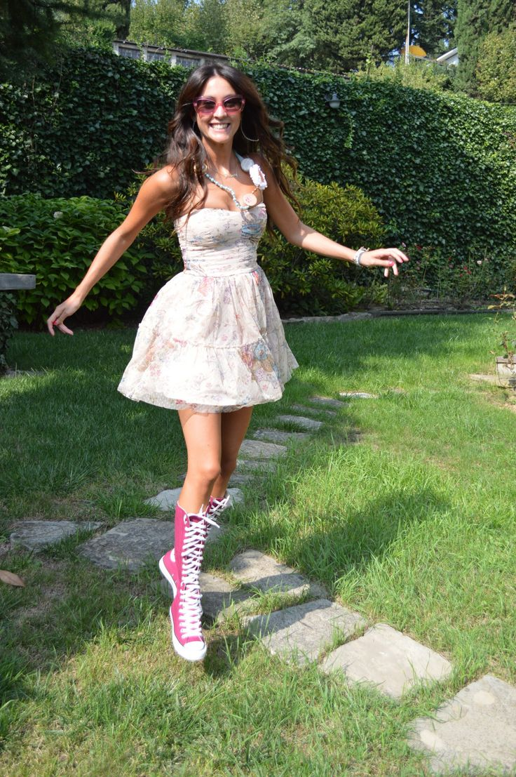 xxhi knee high converse converse boots tall converse girl pink