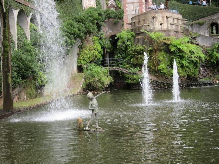 a fountain in the tropical garden-Funchal-Madeira