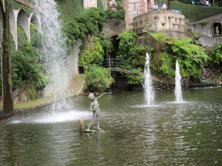 a fountain in the tropical garden-Funchal-Madeira