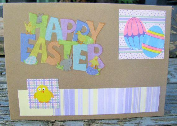 Easter Eggs  handmade card FWB easter card by RogueKissedCraft