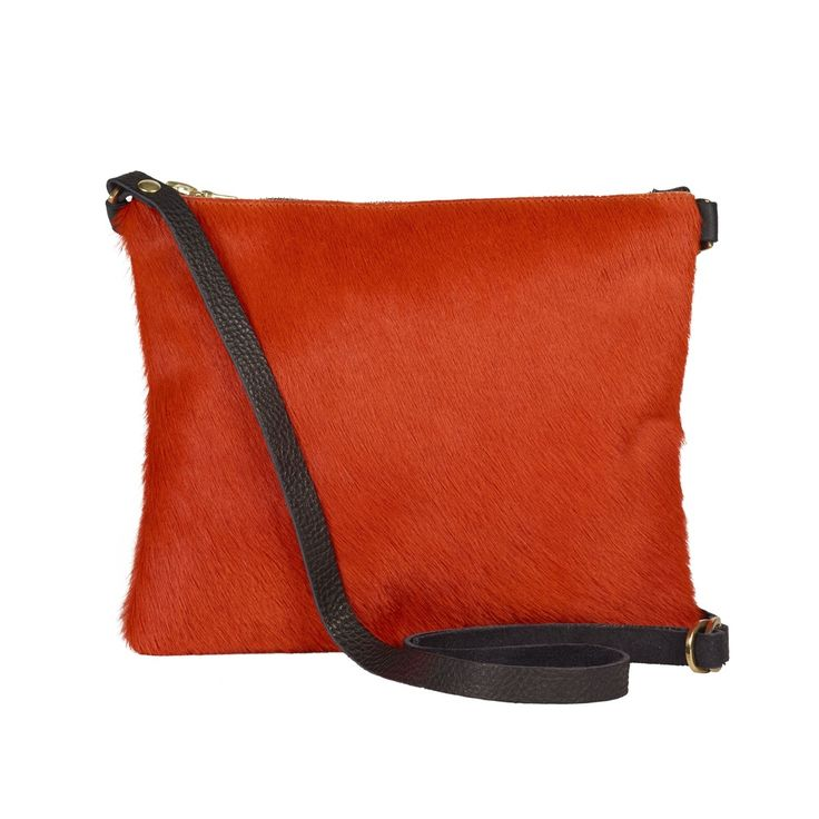 Sarah Baily | Dilly orange/black messenger bag