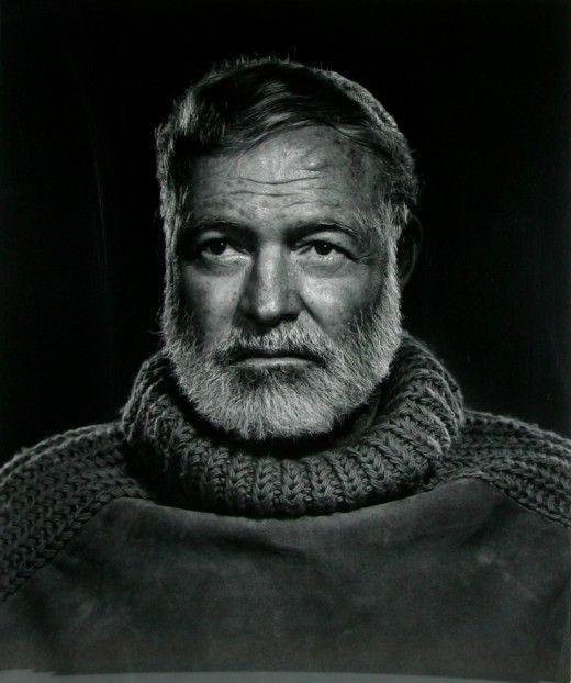 Ernest Hemingway, photo by Yousuf Karsh