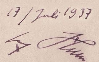 1937 MEIN KAMPF MY STRUGGLE HANDWRITTEN SIGNATURE BY ADOLF HITLER AUTOGRAPH AUTOGRAMM PRICE $5499