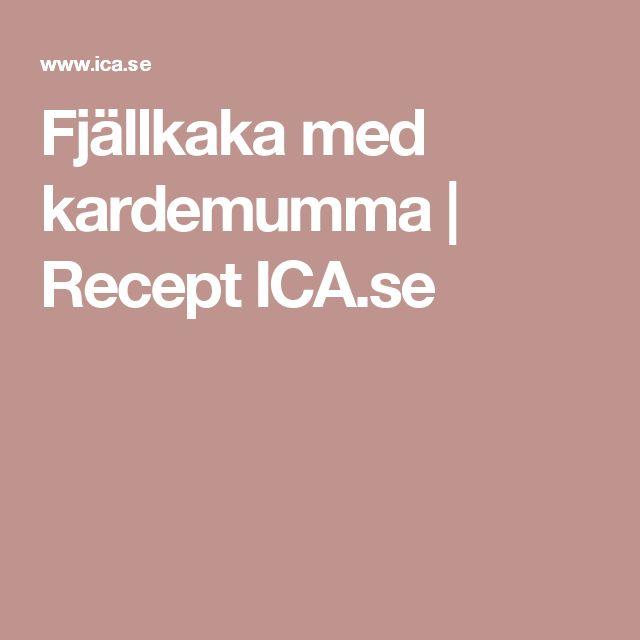 Fjällkaka med kardemumma | Recept ICA.se