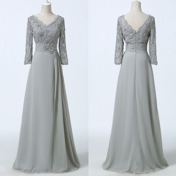 Lace Long Sleeves Silver Mother Of The Bride Dresses 2017 Long Floor Length Formal Mother Of The Groom Gowns For Wedding Custom Made Mother Of The Groom Dresses Petite Mother Of The Grooms Dresses From Prommuse, $132.07| Dhgate.Com
