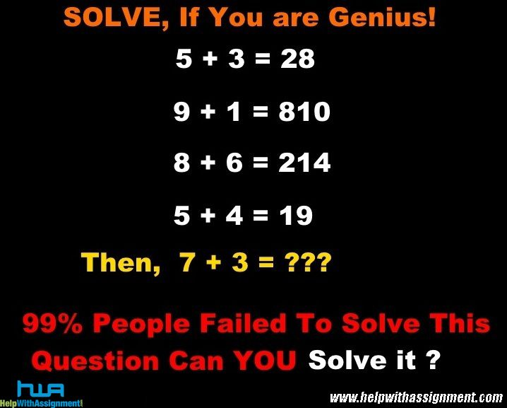 If you can solve this,Comment your answer..!!! #math #riddle #puzzle www.helpwithassignment.com