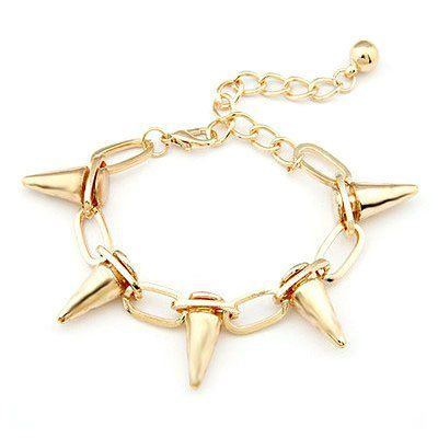 TOPSELLER! New Vintage Fashion Women Lady Punk Rock Rivet Spike Studs Bracelet Bangle Chain $3.99