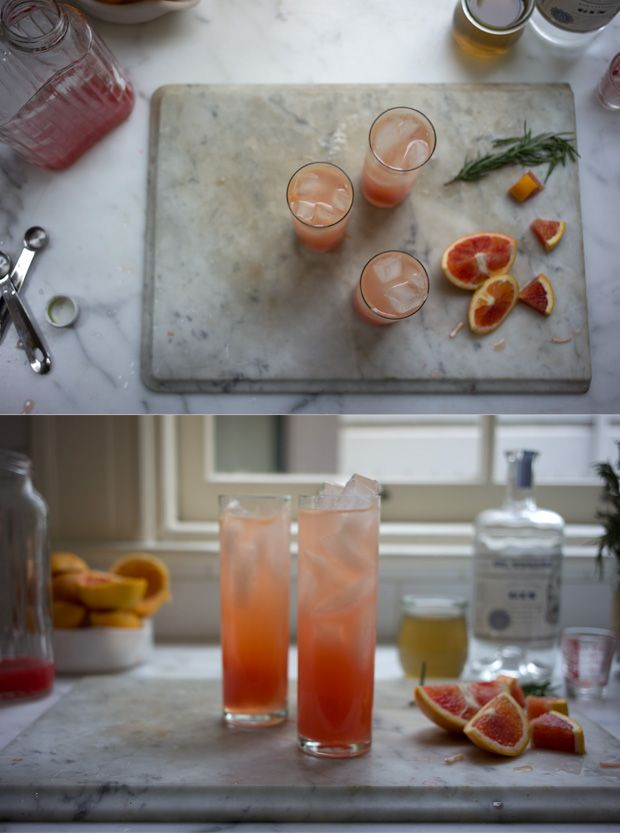 Blood Orange Gin Sparkler 2 cups / 480 ml water 1 cup