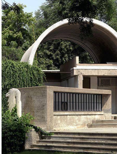 larameeee: iconic architect Balkristna Doshi's Office - Sangath in Ahmedabad, India