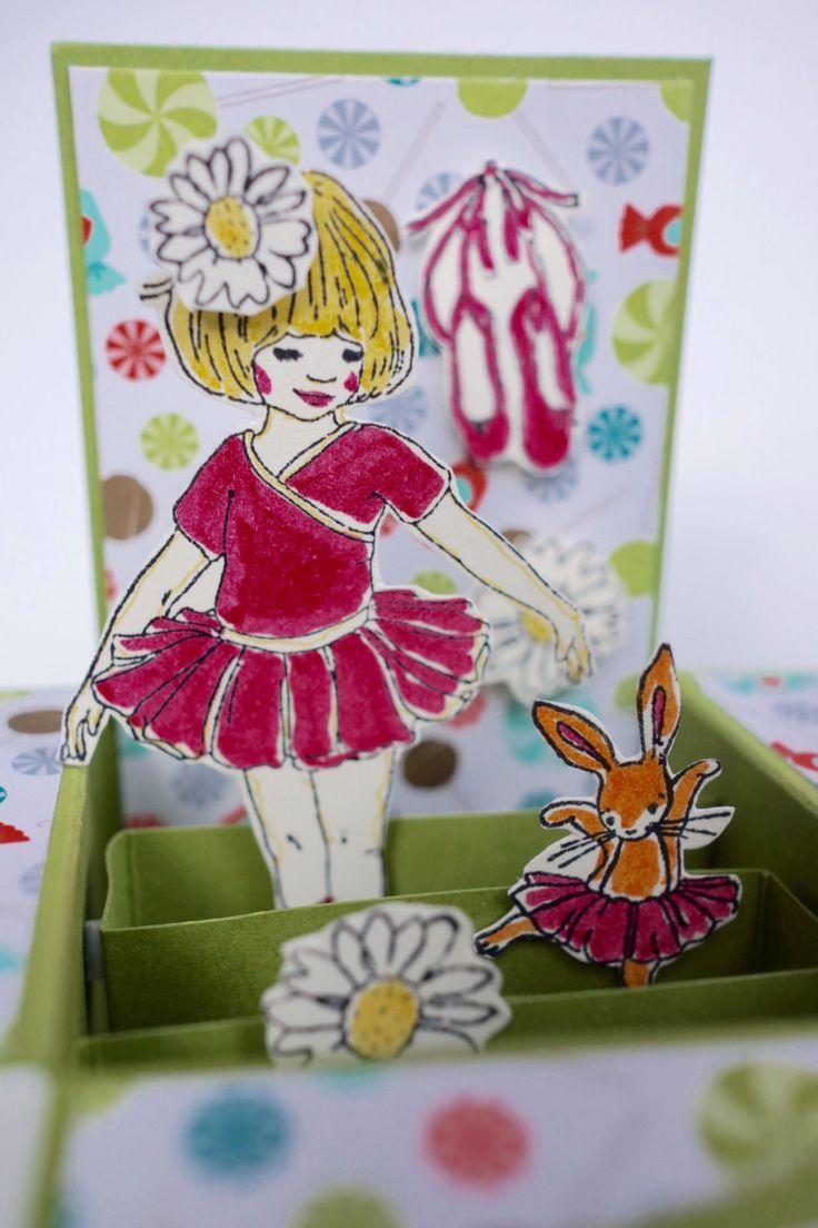 Ballet Dancer Girl Birthday Card by AnnaChildsDesign on Etsy