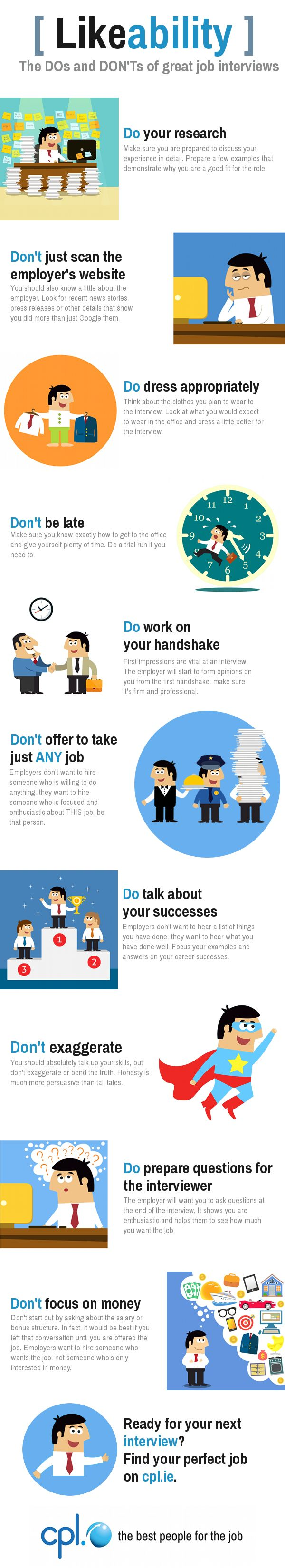 17 images about interview skills tips for the dos and don ts of great job interviews from cpl ie interviewtips