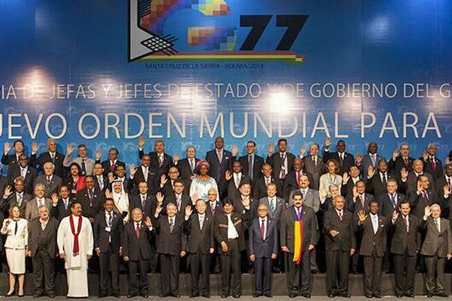 La foto del #G77 en #Bolivia - gentileza : Diario Lanacion.com