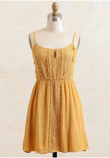 Morning Sunshine Crochet Dress in a beautiful magnificent hue.