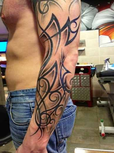 Tribal Arm Sleeve Tattoos - Tattoo Shortlist