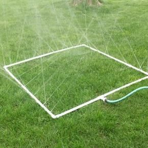 How to Build a PVC Sprinkler for your Vegetable Garden  There are a variety of options when it comes to making sure your garden is properly hydrated.  Here is a cool idea from Home Spun Threads using nothing more than PVC and a little creativity to water your vegetable garden beds.  The best part of using PVC to create a sprinkler system for your vegetable garden, is that you can really customize it anyway you want.