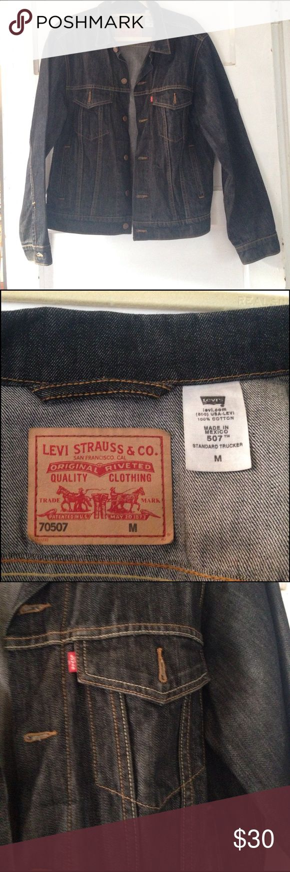 Levi Standard Trucker Denim Jacket Levi 507 jean jacket. Dark gray, almost black. Size Medium. Great condition. Still pretty crisp. Levi's Jackets & Coats Lightweight & Shirt Jackets